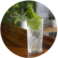 Menage - Sake mojito, coconut water soda, basil, mint, shiso cordial, citric acid