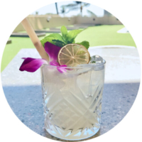 Mai Tai made with local white rum, and inspired by the original 1944 recipe
